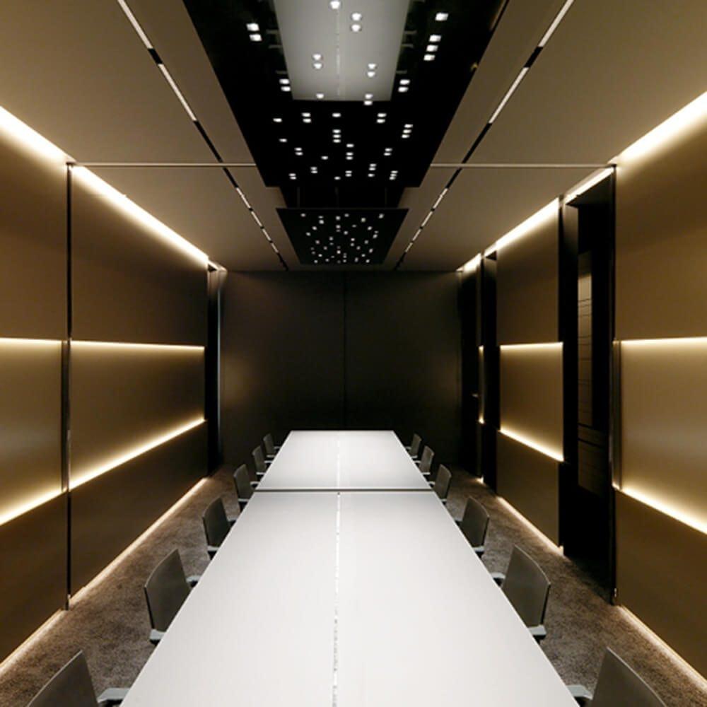 Alupanel Black And Gold Boardroom 1000X1000